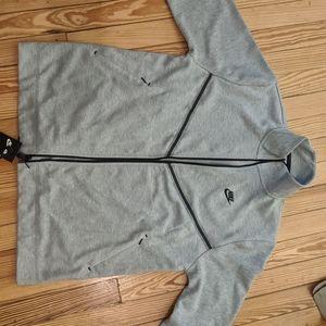 NIKE gray zip up